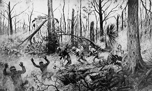 """La Brigade Marine Americain Au Bois de Belleau"" or ""The American Marines in Belleau Wood"" by French war correspondent Georges Scott."